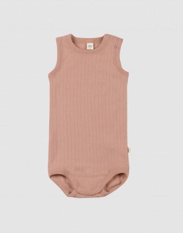 Ärmelloser Merino Body für Babys Puder