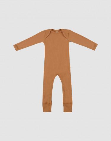 Baby Merino Overall in Rippstrick Karamell