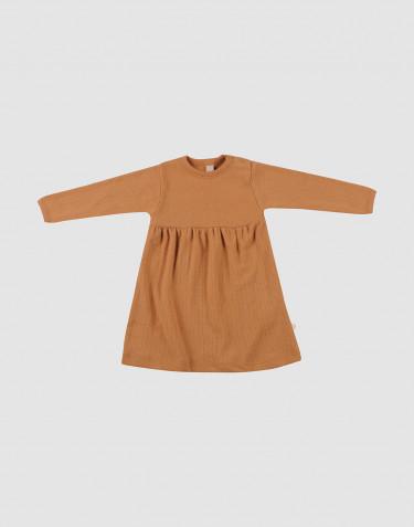 Rippstrick Wollkleid für Babys Karamell