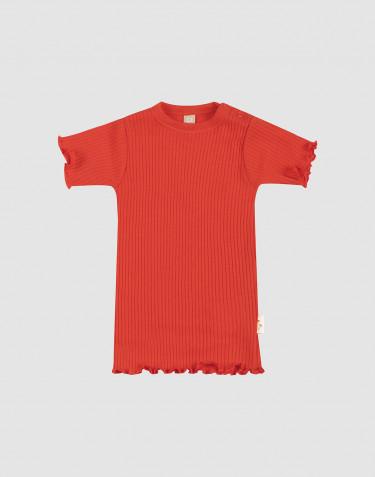 Baby T-Shirt mit gekräuseltem Rand aus Merinowolle