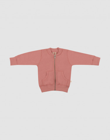 Baby Jacke aus Wollfrottee Rosa