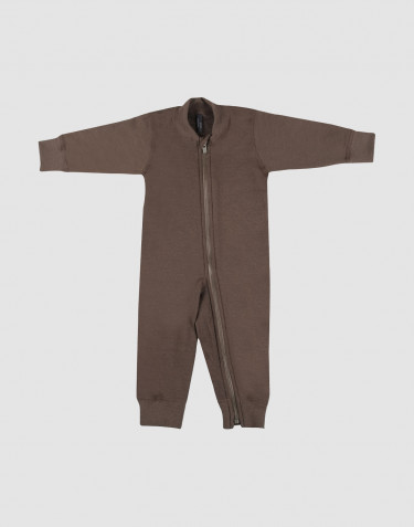 Baby Overall aus Wollfrottee fudge