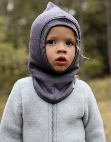Schlupfmütze aus Wollfrottee für Babys