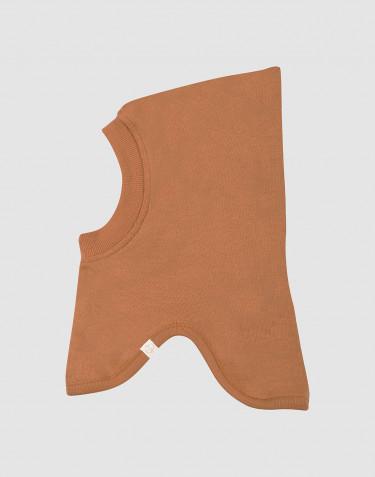Schlupfmütze für Babys aus Wollfrottee Karamell