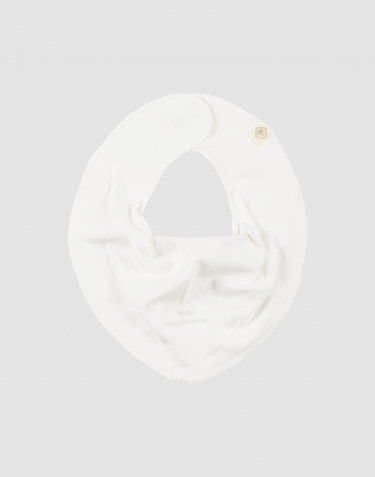 Baby Lätzchen aus natürlicher Baumwolle weiß