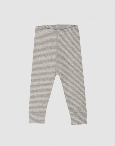 Baby Leggings aus kbA Baumwolle grau gestreift