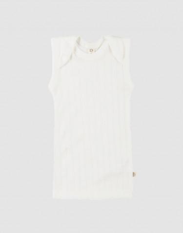Baby Unterhemd aus natürlicher Baumwolle weiß