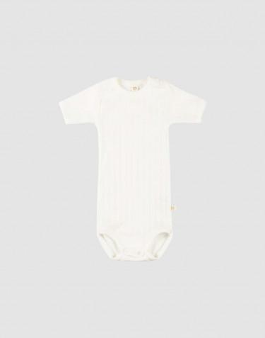 Kurzarm Baby Body aus natürlicher Baumwolle weiß