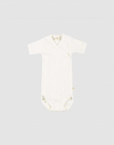 Wickelbody aus natürlicher Baumwolle für Babys weiß