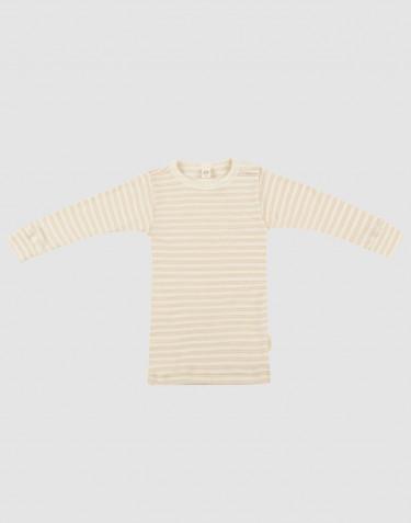 Langärmliges Shirt für Babys aus Bio Wolle/Seide beige/natur