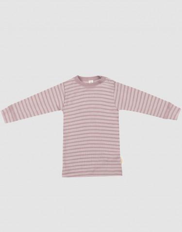 Baby Langarmshirt aus Bio Wolle-Seide pastellrosa meliert/ natur