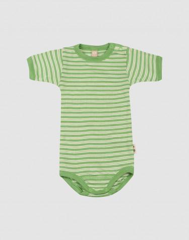 Kurzarmbody aus Merinowolle/ Seide für Babys