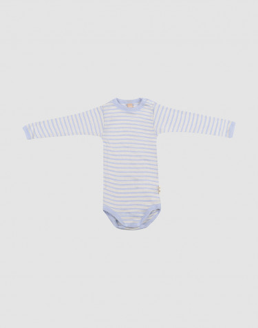 Baby Langarm Body aus Merinowolle/Seide