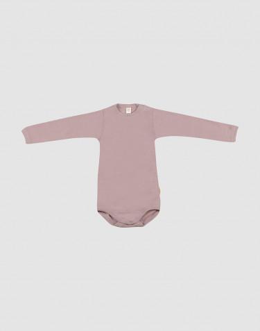 Baby Langarmbody aus Bio Wolle-Seide pastellrosa