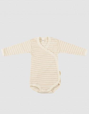 Wickelbody für Babys aus Bio Wolle/Seide beige/natur