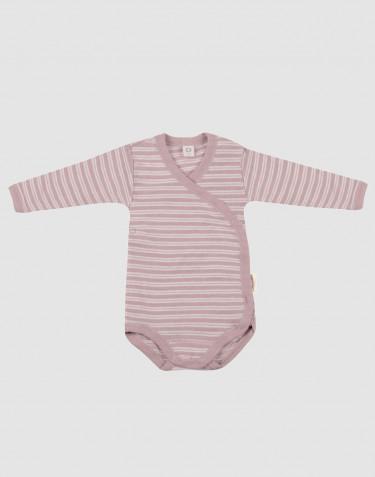 Wickelbody für Babys aus Bio Wolle-Seide pastellrosa/ natur