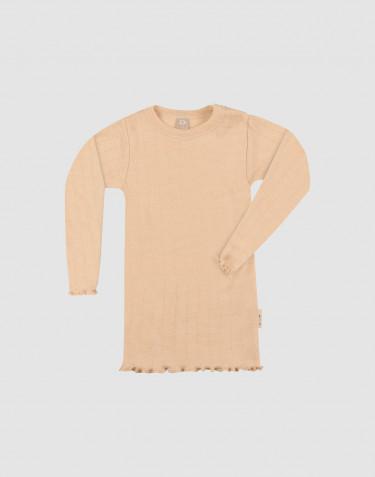 Baby Langarmshirt aus Wolle/ Seide mit Pointelle Details