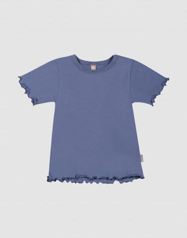Kinder T-Shirt aus natürlicher Baumwolle mit gewellten Rändern