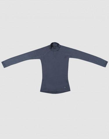 Shirt für Kinder - Exklusive natürliche Merinowolle Blaugrau