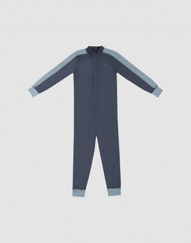 Overall für Kinder - Exklusive natürliche Merinowolle Blaugrau