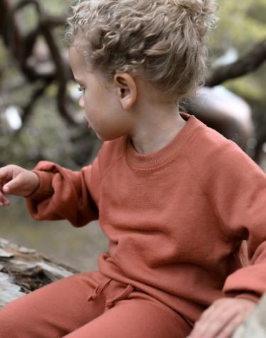 Kinder Sweatshirt aus Wollfrottee mit weiten Ärmeln