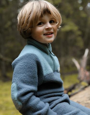 Kinder Pullover aus Merino Wollfleece