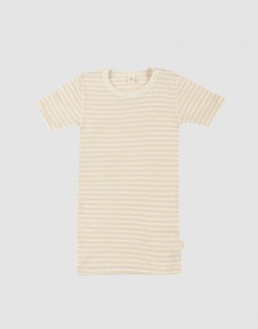 T-Shirt für Kinder aus Bio Wolle/Seide beige/natur