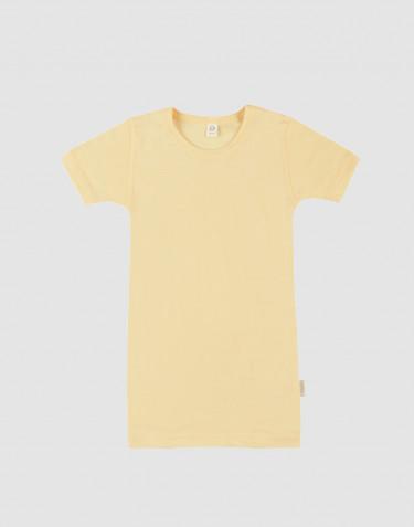 T-Shirt für Kinder aus Bio Wolle und Seide Hellgelb