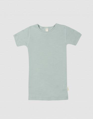 Kinder T-Shirt aus Wolle-Seide pastellgrün