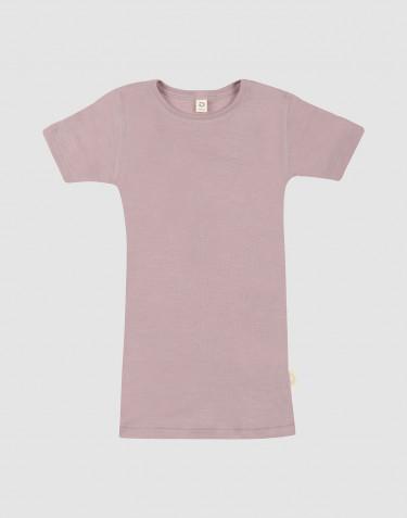 Kinder T-Shirt aus Wolle-Seide pastellrosa