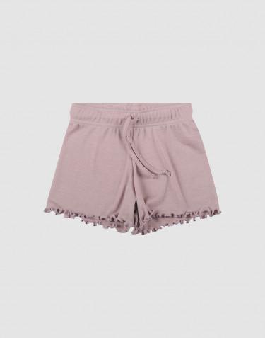 Shorts aus Bio Wolle und Seide pastellrosa