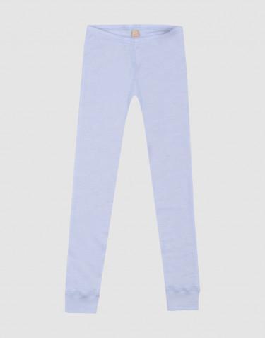 Natürliche Wolle/Seide Leggings für Kinder - Taubenblau