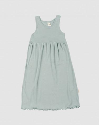 Trägerkleid aus Bio Wolle und Seide Pastellgrün