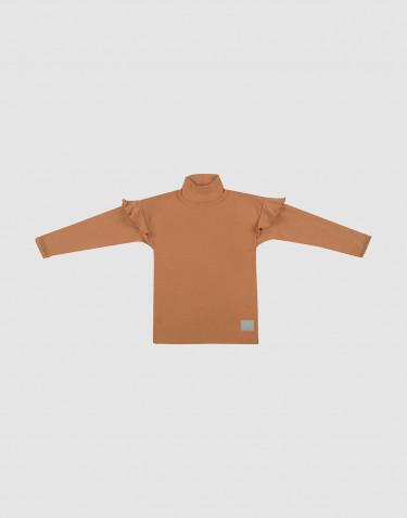 Kinder Shirt mit Rüschen Karamell