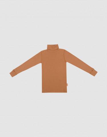 Merino Rollkragen Shirt für Kinder Karamell