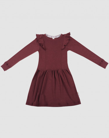 Wollkleid für Kinder - Bio Merinowolle weihnachtsrot