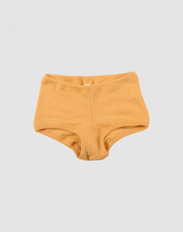 Mädchen Hipster aus breitem Wollstrick gelb