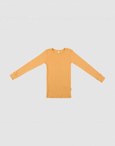 Kinder Shirt in breitem Wollstrick Gelb