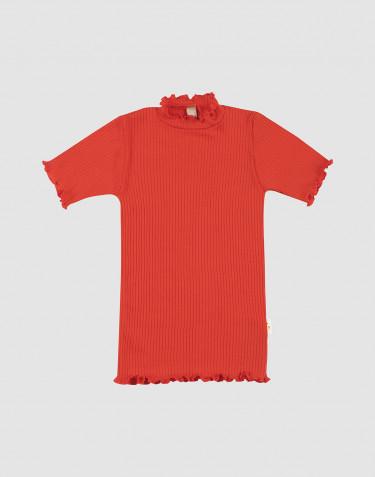 Kinder T-Shirt mit gekräuseltem Rand aus Merinowolle