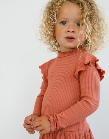 Kinder Merino Kleid mit Rüschen