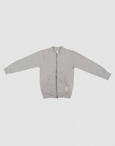 Kinder Sweatshirt mit Reißverschluss graumeliert