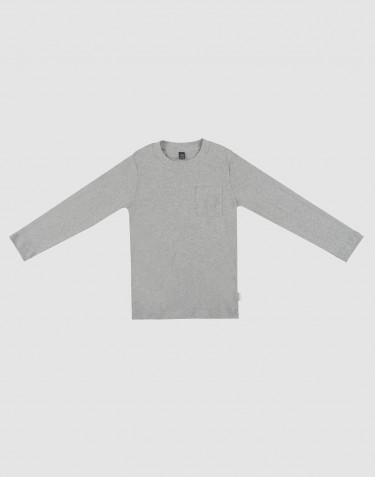Schlafshirt für Kinder graumeliert