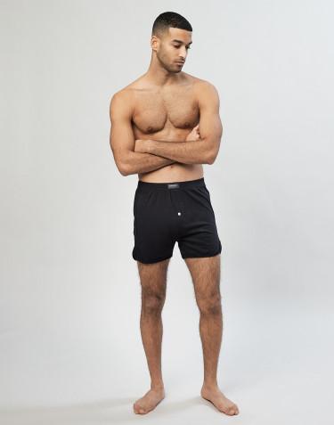 Boxershorts für Herren mit Eingriff schwarz