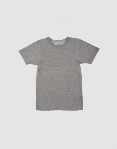 Weiches T-Shirt aus Baumwolle grau meliert