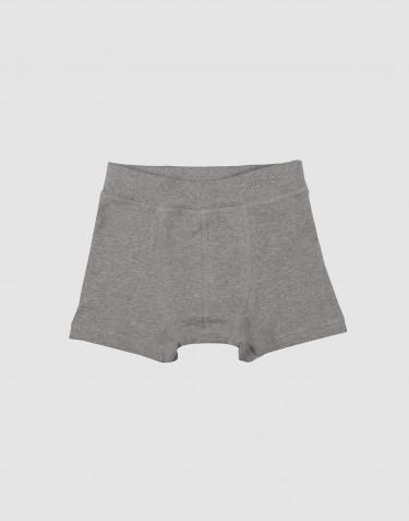Jungen Boxershorts aus Baumwolle grau meliert