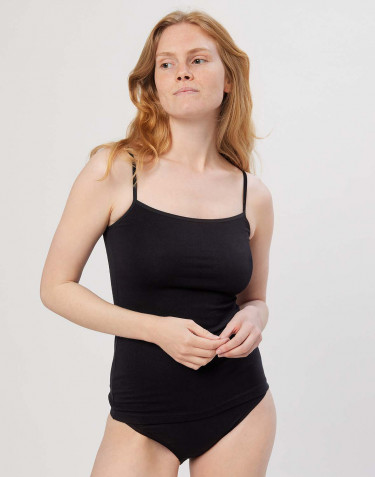 Baumwoll Top für Damen schwarz