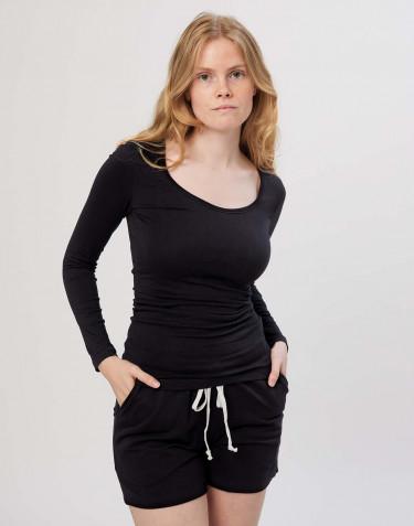 Langarmshirt für Damen schwarz