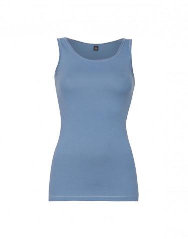 Tank Top Damen aus Baumwolle blau