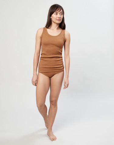 Merino Midi Slip für Damen karamell