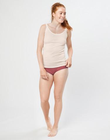 Midi Damen Slip aus Merinowolle rouge